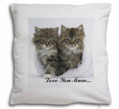 'Love You Mum' Mothers Day Cats Soft Velvet Feel Cushion Cover Wi, AC189lymCPW