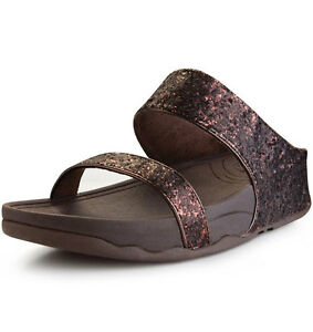 46385e68562 BNWT FITFLOP UK SIZE 6   8 BRONZE GLITTER FLIP FLOP SANDALS BEACH ...