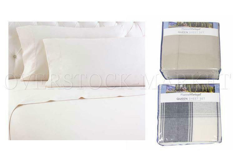 NEW OPEN  FLANNEL FROM PORTUGAL 4 PIECE SHEET SET  USA COTTON  VARIETY SZ CLRS