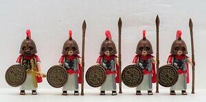 5 X Grecs Romain Elite Guerrier Playmobil à Cuivre Bronze 70216 Rock Sandales Soulager Le Rhumatisme Et Le Froid