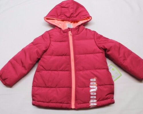 CARTER/'S LITTLE GIRL/'S HOODED PUFFER JACKET COLOR: FUCHSIA  SIZE: 4 - 3T - 2T
