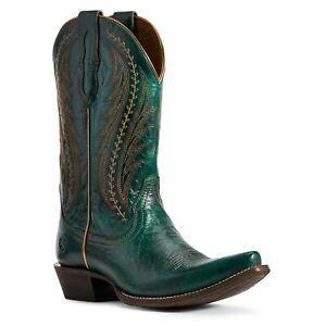 Ariat-Ladies-Green-Metallic-Tailgate-Western-Boots-10029676