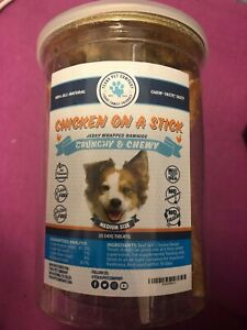 Chicken Jerky On A Stick - Jerky Wrapped Rawhides for Dogs - Natural Dog Chews