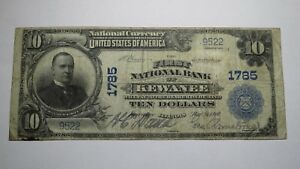 10-1902-Kewanee-Illinois-IL-National-Currency-Bank-Note-Bill-Ch-1785-FINE