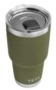 YETI-Rambler-30oz-Tumbler-OLIVE-GREEN-MagSlider-Lid-NWT-Authentic-USA-Seller
