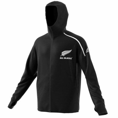 All Blacks Antham Jacket Coat Top Black Mens adidas
