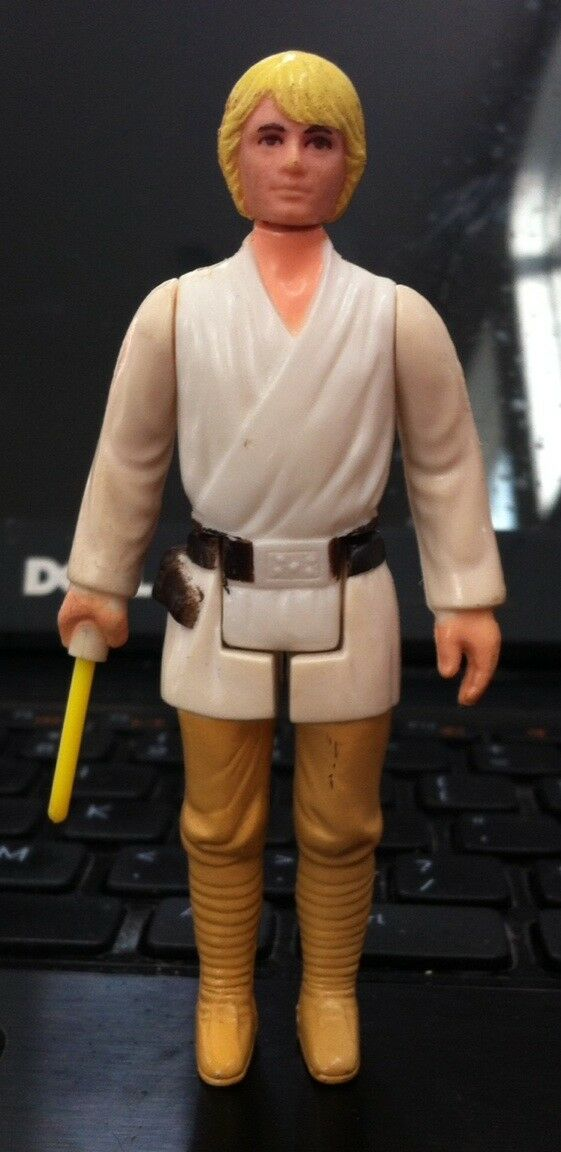 VINTAGE STAR WARS 1977 LUKE SKYWALKER FARMBOY 100% COMPLETE LOOSE FIGURE BLONDE