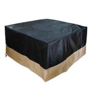 Heavy-Duty-Patio-Square-Fire-Pit-Table-Outdoor-Waterproof-Cover-Black-40-Inch