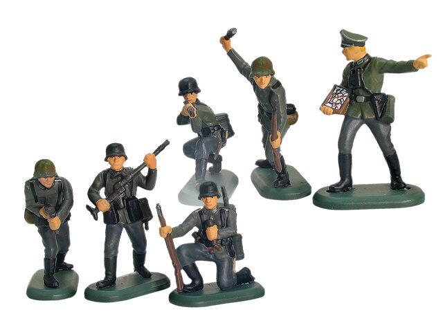 W. großbritannien ww ii deutsche infanterie - hand bemalte plastik w   werkstoff - 48 stück