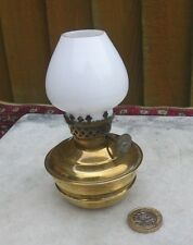 VINTAGE W.WAR 2 HOME FRONT SMALL BRASS& GLASS KELLY/PIXIE AIR RAID SHELTER LAMP