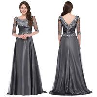 Long Mother Of The Bride/Groom Dress Wedding Formal Evening Ball Gown Maxi Dress