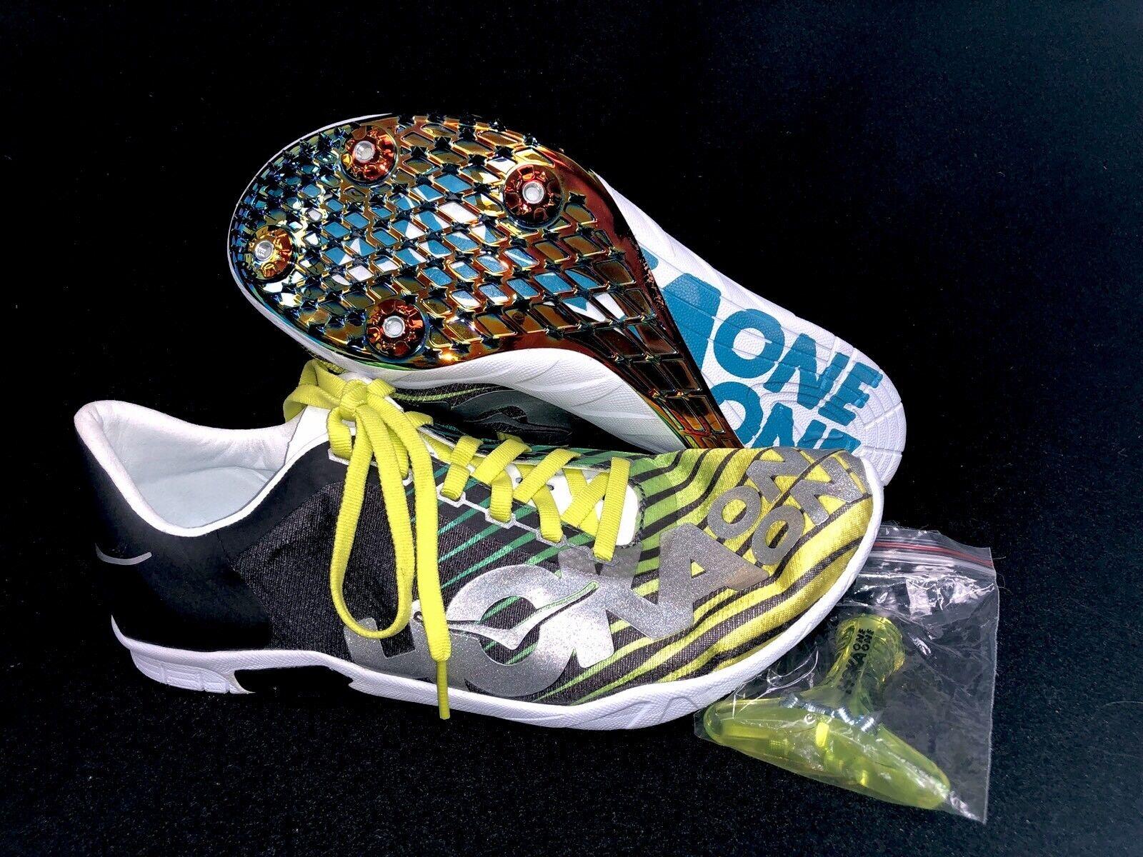 Hoka One One Speed Evo R Rio Mens schuhe Running Track Gelb Grün Silber grau
