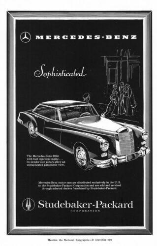 Vintage German Mercedes 300-D Promo Poster