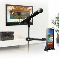 Microphone Stand Tube Pole Clamp Mount Holder For Ipad Mini 2/3/4 & Small Tablet