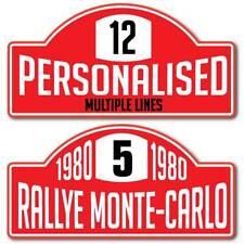 Personalised Car Rally Plate, Monte-Carlo Style Metal Aluminium Composite