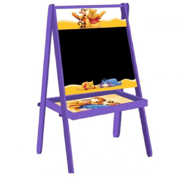 NEW DISNEY STANDING WOODEN EASEL CHILDRENS ART GIFT SET TOY COLOURING CHALKBOARD