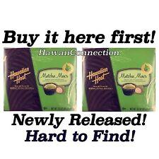 Discount! 2 Boxes HAWAIIAN HOST Matcha macs! GREEN TEA CHOCOLATE MACADAMIAS Nuts