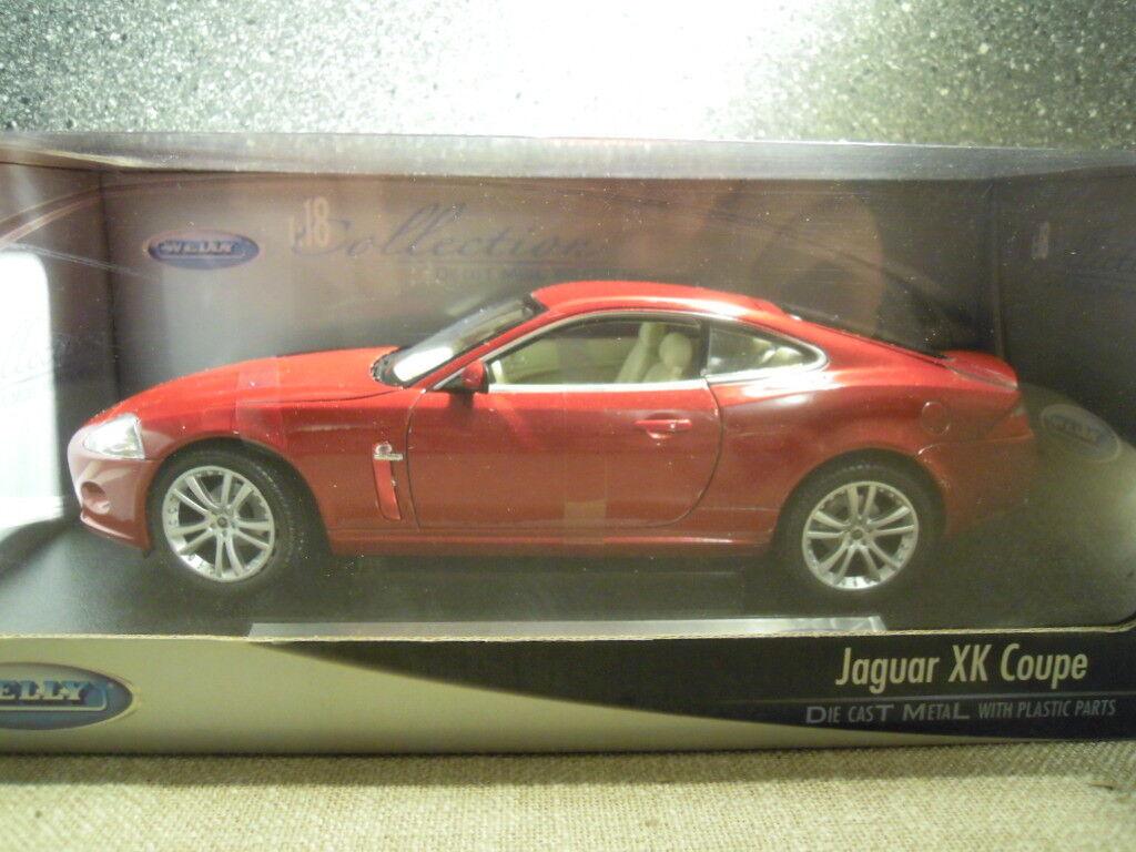 Welly 12564w, Jaguar XK Coupe IN Rosso-Metallico, Diecast 1/18, NUOVO-SIGILLATO