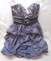 Speechless Lilac Sequin Short Bubble Prom Dress Size 5 Bridesmaid Cruise -