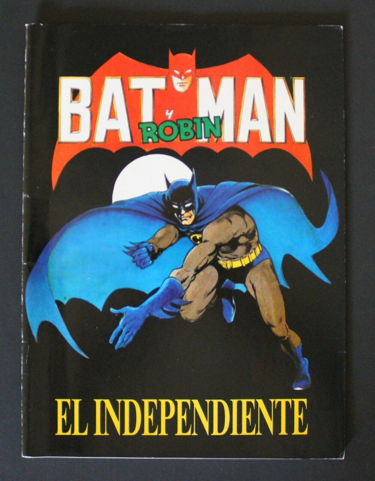 1990 Independiente BATMAN & ROBIN trading cards comic strips vintage empty album