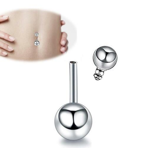 Tongue Belly Lip Bar Navel Button Ring Surgical Steel Ball Body Piercing Jewelry