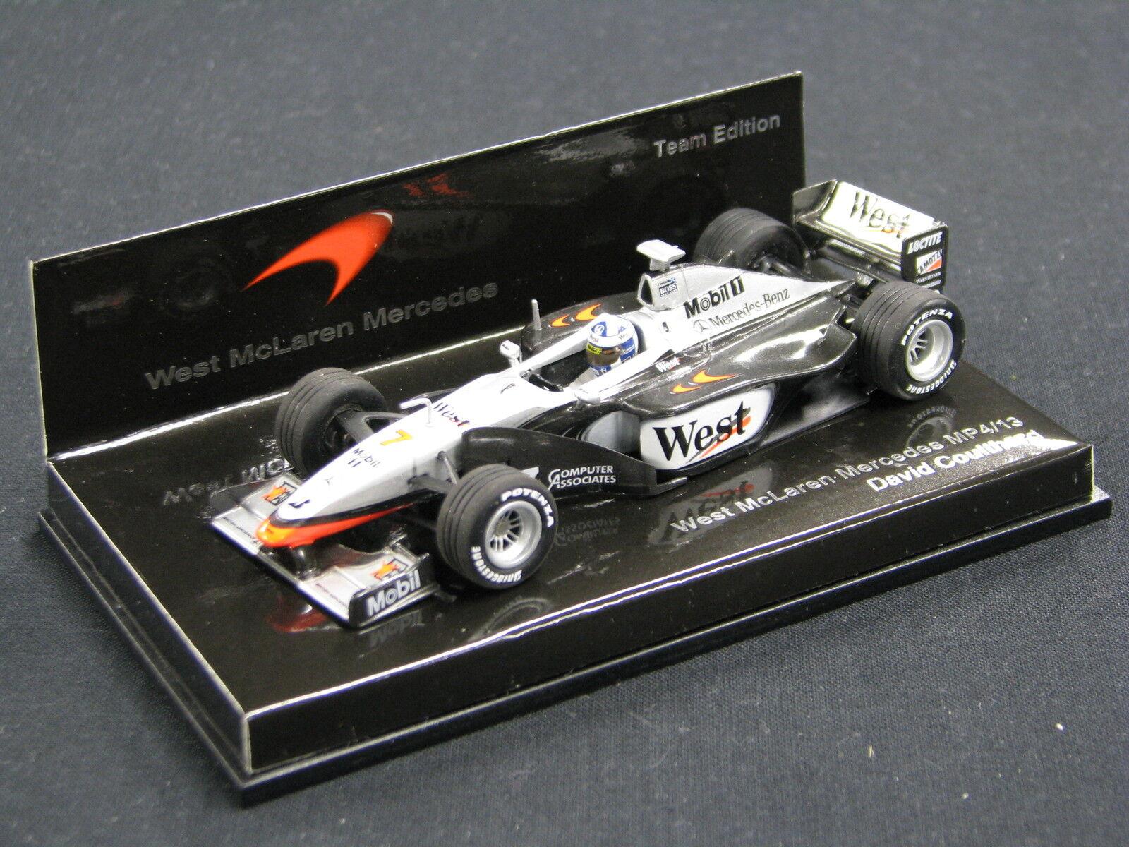 Minichamps West McLaren Mercedes MP4 13 1998 1 43  7 David Coulthard (GBR) (JS)