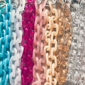 Acrylic Accessory Chain for Bags, Jeans, Pants, Phone Cases