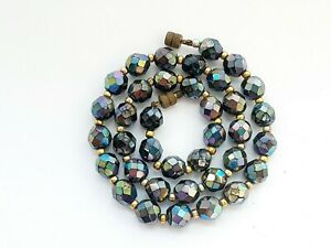 Vintage-16-034-Sparkly-Aurora-Borealis-Faceted-Glass-Necklace