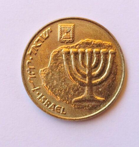Israeli 10 Agorot Coin Israel Bronze Official Money Golden Color Agora Menorah