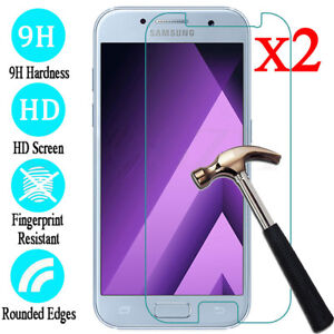 For-Samsung-Galaxy-A3-5-6-7-8-Plus-Accessory-Tempered-Glass-Screen-Protector-2pc