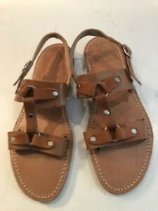 875f74ff6bdfa Details about Sandals, Pantelis Melissinos, The Poet Handmade Greek men's,  model Plato size 10