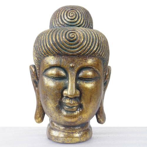 moulés sculpture tête in Xl deco personnage Bouddha 38cm //Outdoor Gold