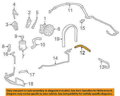 One New Genuine Power Steering Return Hose 53733SDAA01 for Honda TL Accord