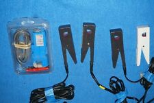 Lot Of 5 Blue Black Clamp On Current Probe Universal Technic