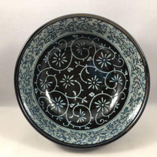 "SET of 2 Japanese Rice Soup Bowls 5.5/""D Porcelain Manyo Karakusa Made in Japan"