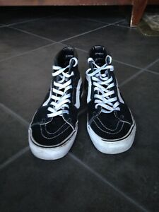 Details about Vans Old Skool Off the Wall Mens Sz 9 Womens 10.5 Black White High Tops Canvas