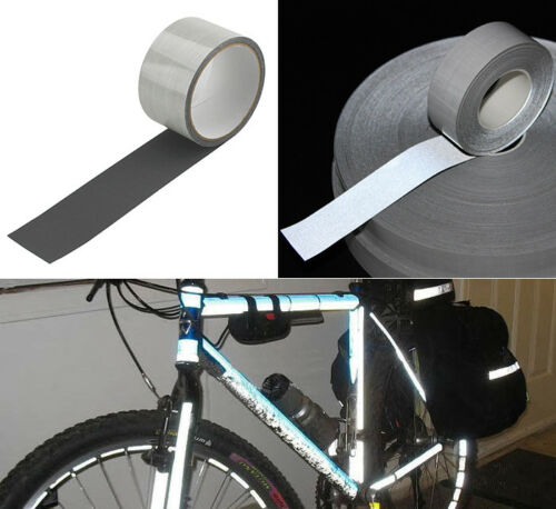 Safety Silver Reflective TC Fabric Tape Vest Trim Strip Self-adhesive Sticker 5m