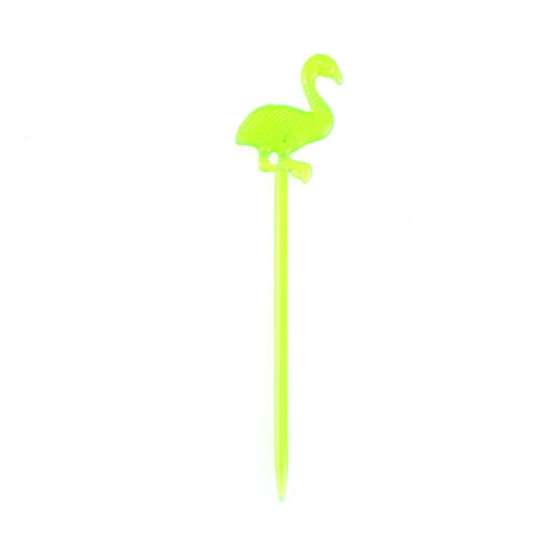 50x flamingo dining disposable plastic food cake fruit fork picks skewer set*v*