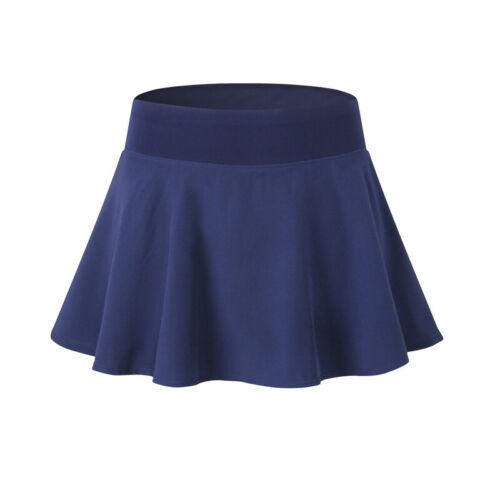 Women/'s Athletic Tennis Yoga Running Skort Attached Flare Skirt Moisture Wicking