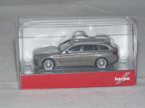 OVP Atlaszeder metallic 1:87 NEU herpa 430708 BMW 5er Touring