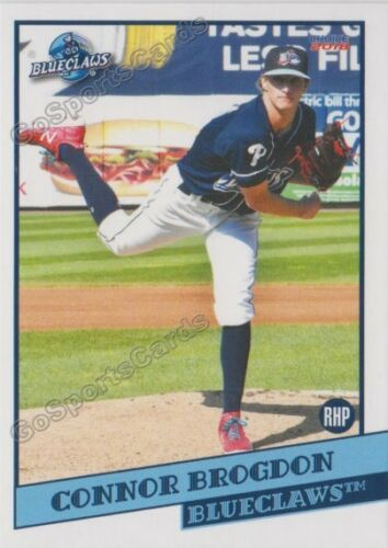 2018 Lakewood BlueClaws Connor Brogdon RC Rookie Philadelphia Phillies