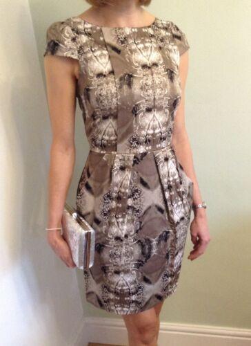 Closet Tulip Pencil  Dress Beige Brown