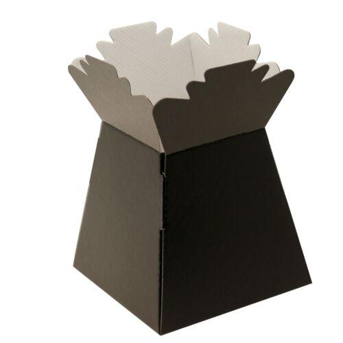 Black Living Vase Bouquet Flower Box Gift Sweet Florist Presentation Transporter