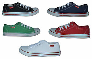 Mens-Canvas-Pumps-Plimsoles-Red-Green-Navy-Black-Size-6-to-11-Free-Postage