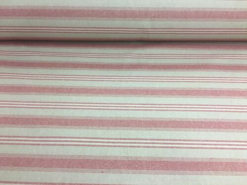 """Harvard Stripe French Red Linen 280cm//108/"""" Curtain Fabric"""