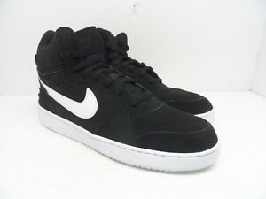 f550115dd7422 NIKE Men's Court Borough Mid Basketball Shoes Black/White Size 12M ...