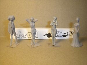 4 Figurines 1/43 Set 427 Les Coquettes Vroom No Norev Minichamps Nouveau Design (En);
