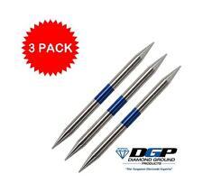 "3 Diamond Ground Stinger TIG Tungsten Electrodes 2% Lanthanated BLUE 3/32""x1.5"""