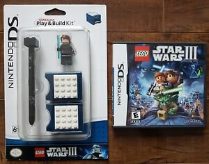 Details about NINTENDO DS Lego Star Wars III LOT: The Clone Wars +  Character Play & Build Kit