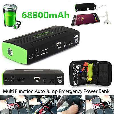 68800mAh USB Car Jump Starter Emergency Charger Booster Power Bank Battery UK